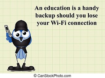 Education Backup - Comical education backup should you lose...