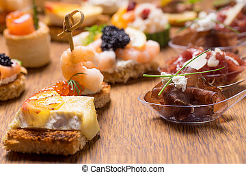 Exquisite selection of luxury appetizer - Exquisite...