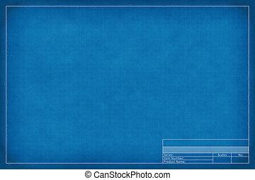 blank blueprint - 2d illustration of a blank blueprint