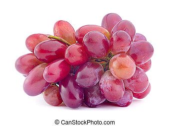 Violet grape fruit isolated on white