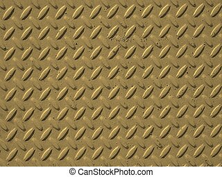 Yellow steel diamond plate background sepia - Yellow steel...