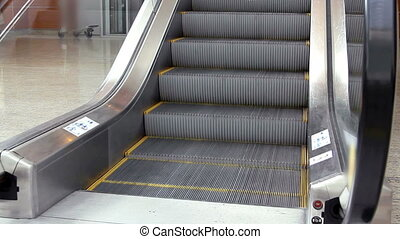escalator stairs moving up