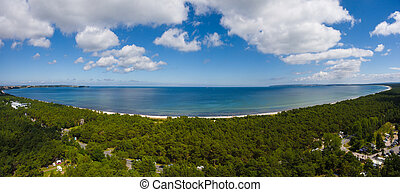 aerial view on baltic sea juliusruh island ruegen germany