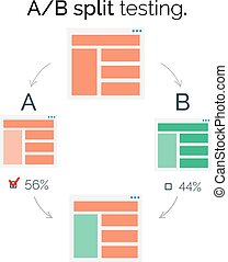 AB comparison. Split testing. - A-B comparison. Split...