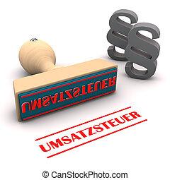 Stamp Paragraphs Umsatzsteuer - Stamp with german text...