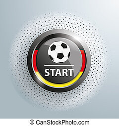 Button Football Germany Start Halftone - Button with...