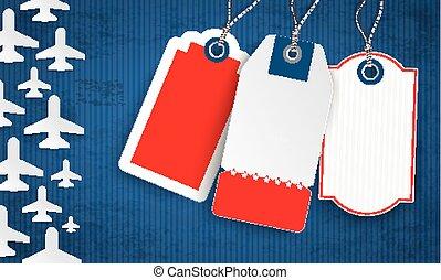 Blue Vintage Cover Frame US Flag 3 Price Stickers - Vintage...