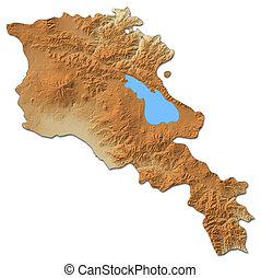 Relief map of Armenia - 3D-Rendering
