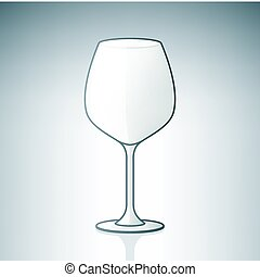 Empty Wine Glass part of the Alcohol Glass Icons Set