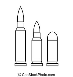 Bullets icon in outline style - icon in outline style on a...