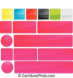 Set of unusual multicolored buttons, part 12, vector illustration