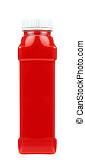 Ketchup souce platic bottle isolated