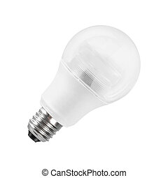 Light bulb, isolated on white
