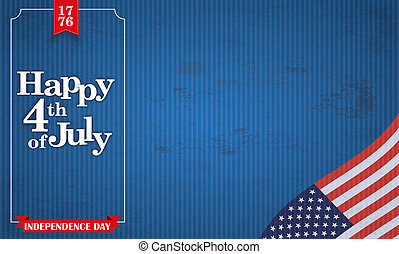 Header Vintage Happy 4 July USA Flag Frame - Vintage header...