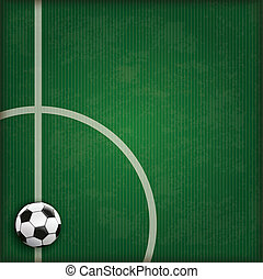 Football Ground Stripes Green Cover - Football ground with...