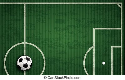 Football Ground Green Stripes Cover Long - Long cover with...