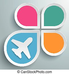 Infographic Drops Jet Destination - Infographic design with...