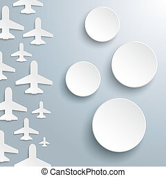 Paper Jet Cover 4 Circles - White paper jets with 4 paper...