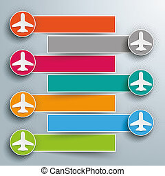 Jets halftone 7 Circles Banners Outline - Infographic design...