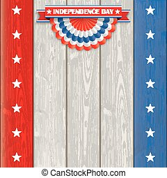 Independence Day USA Bunting Wood