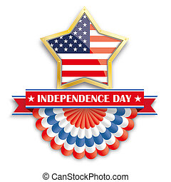 Independence Day Golden Star Bunting