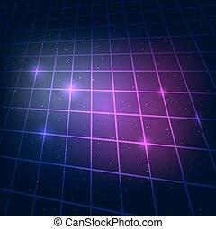 sci-fi grid background - 80s Retro Sci-Fi Background Neon...