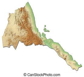Relief map of Eritrea - 3D-Rendering - Relief map of Eritrea...