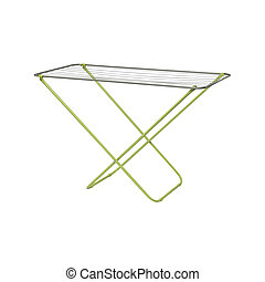 Clothes rack dryer stand isolated