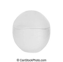 White Ceramic Canister