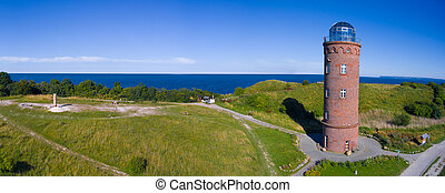Lighthouse at Kap Arkona, Island of Ruegen, Germany Peilturm...