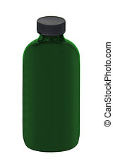 Medicine bottle isolated