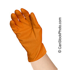 protective rubber glove