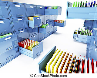 file cabinet 3d - classic file cabinet 3d isolated on white...