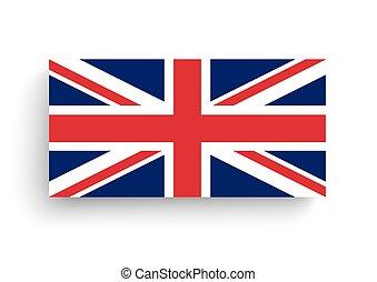 Union Jack Shadows White Background - Union Jack, flag of...