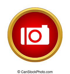 Camera icon in simple style - icon in simple style on a...