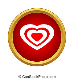 Heart icon in simple style