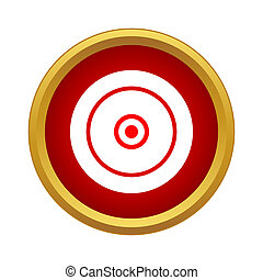 Circles within the circle icon in simple style - icon in...