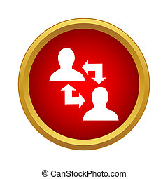 Exchange information between two people icon
