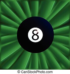 Eight Ball Over Green - A typical eight snooker ball over a...