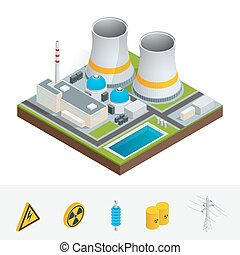 Vector isometric icon, infographic element representing...