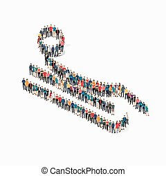 people sports bobsled vector - Isometric set of styles,...