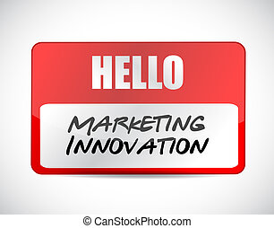 Marketing Innovation name tag sign concept illustration...