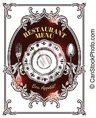 Restaurant Menu Vintage Cover