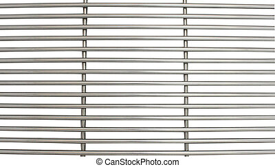 metal grille isolated on white