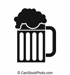 Beer mug icon, simple style - Beer mug icon in simple style...