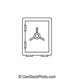 Closed safe icon, outline style