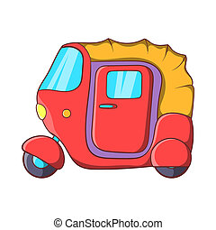 汽車, 人力車, 圖象, 在, 卡通, 風格