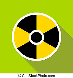 Radioactive sign icon in flat style - icon in flat style on...
