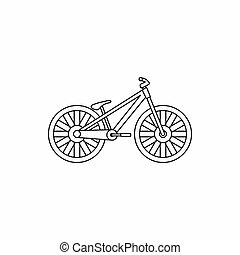 Bike icon, outline style - Bike icon in outline style...