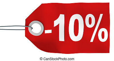 10% off tag